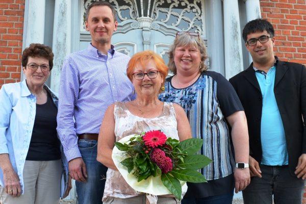 Der neue Fraktionsvorstand: Rita Marcussen (Geschäftsführerin), Martin Ahrens (1. stellv. Vorsitzender), Edda Lessing ( Vorsitzende), Cordula Schultz (2. stellv. Vorsitzende), Dr. Christopher Schmidt (3. stellv. Vorsitzender)