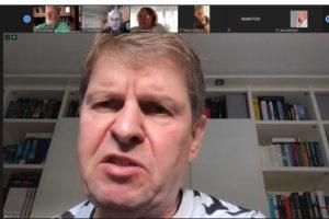 Ralf Stegner in der Videokonferenz