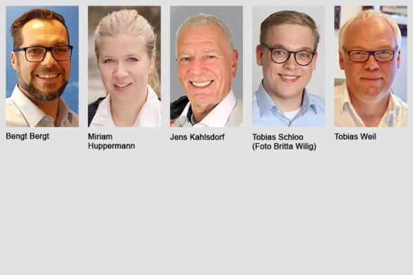 Bengt Bergt, Miriam Huppermann, Jens Kahlsdorf, Tobias Schloo, Tobias Weil